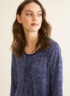 Claudel Lingerie - Chemise de nuit manches ¾, Bleu