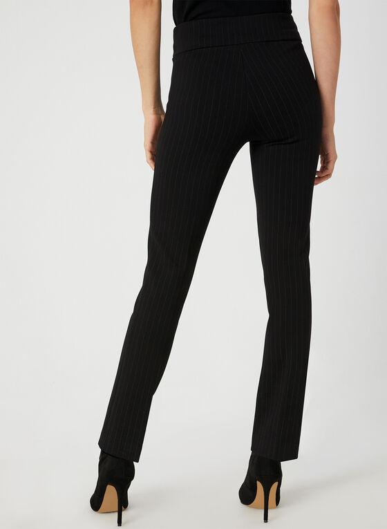 City Fit Stripe Print Pants, Black