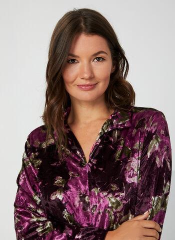 Hamilton - Velour Nightgown, Purple,  Canada, Hamilton, sleepwear, pyjama, velour, fall 2019, winter 2019