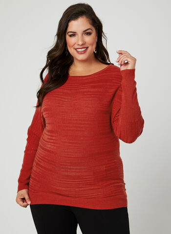 Dolman Sleeve Sweater, Red, hi-res