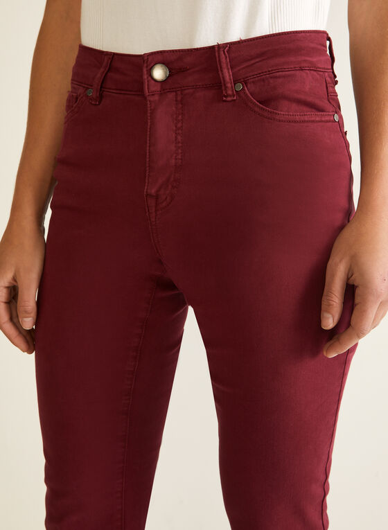 Straight Leg Jeans, Red