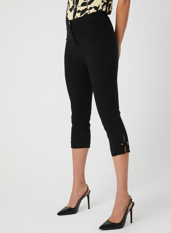 Modern Fit Slim Leg Capris, Black, hi-res
