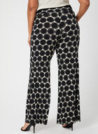 Joseph Ribkoff - Dot Print Wide Leg Pants, Black, hi-res