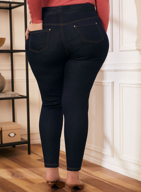 Denim Leggings, Blue