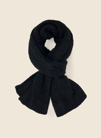 Fuzzy Textured Scarf, Black,  accessories, scarf, textured, fuzzy, fall winter 2020