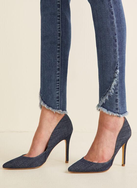 Slim Leg Tulip Hem Jeans, Blue