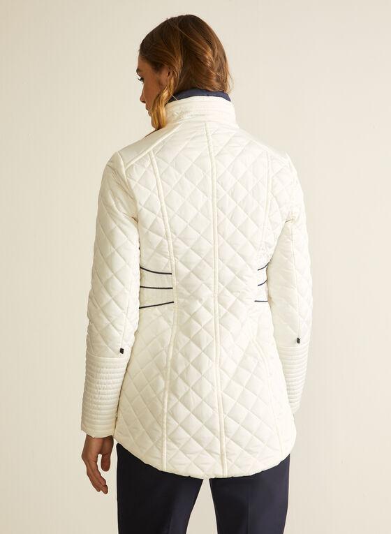 Novelti - Diamond Quilt Coat, Grey