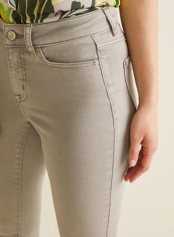 Jeans à jambe étroite et fentes , Gris