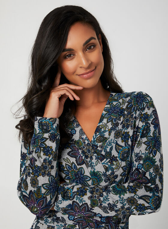 Hamilton – Floral Print Housecoat , Blue