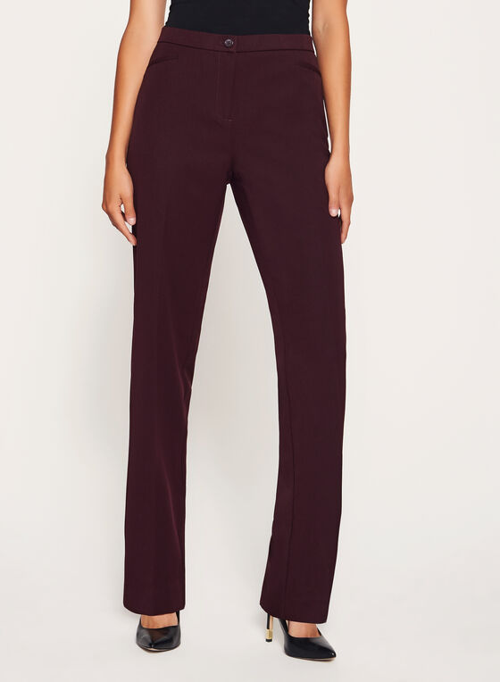 Signature Fit Straight Leg Pants, Purple, hi-res
