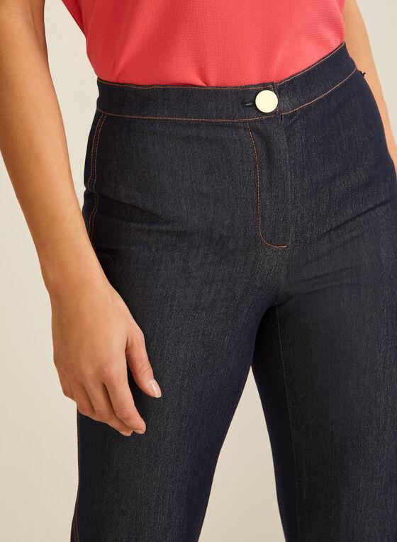 Straight Leg Denim Pants, Blue
