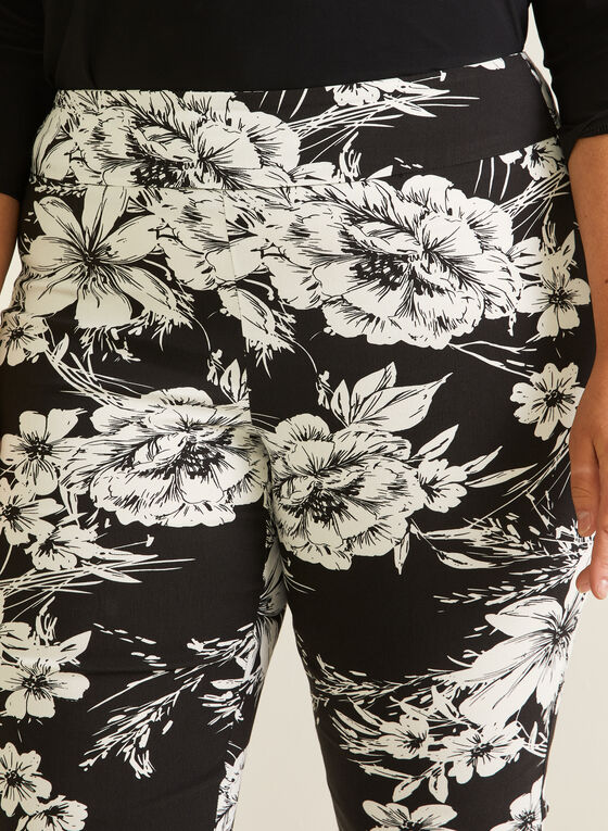 Joseph Ribkoff  - Pantalon fleuri pull-on, Noir