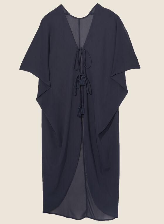 Echo - Tassel Detail Swimsuit Cover-Up, Blue