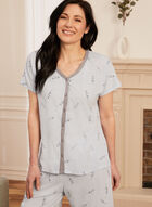 Top & Capris Pyjama Set, Blue