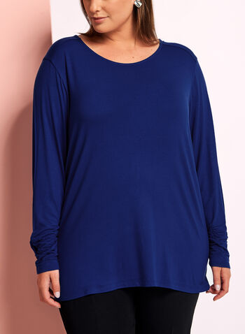 Long Sleeve Crew Neck T-Shirt, Blue, hi-res