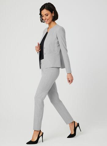 Pantalon coupe moderne à jambe droite, Gris, hi-res,