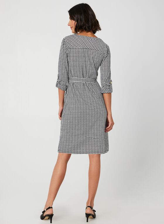 Soho – Houndstooth Print Dress, Black