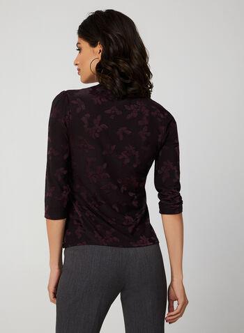 Haut à motifs jacquard, Violet, hi-res,  blouse à tissu jacquard
