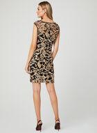 Illusion Neck Soutache Dress, Black, hi-res