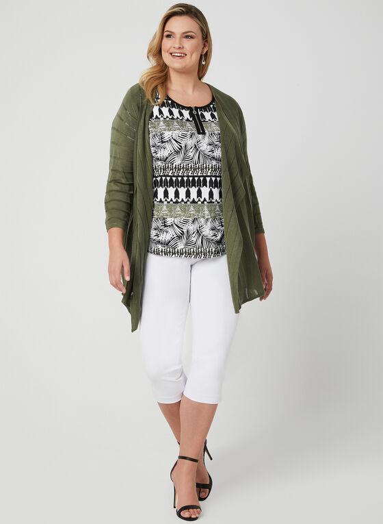 T-shirt à imprimé aztèque, Vert, hi-res