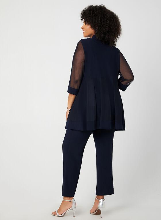 Ensemble veste, haut et pantalon, Bleu