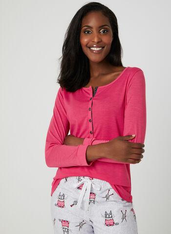 Claudel Lingerie - 2-Piece Pajama Set, Grey, hi-res