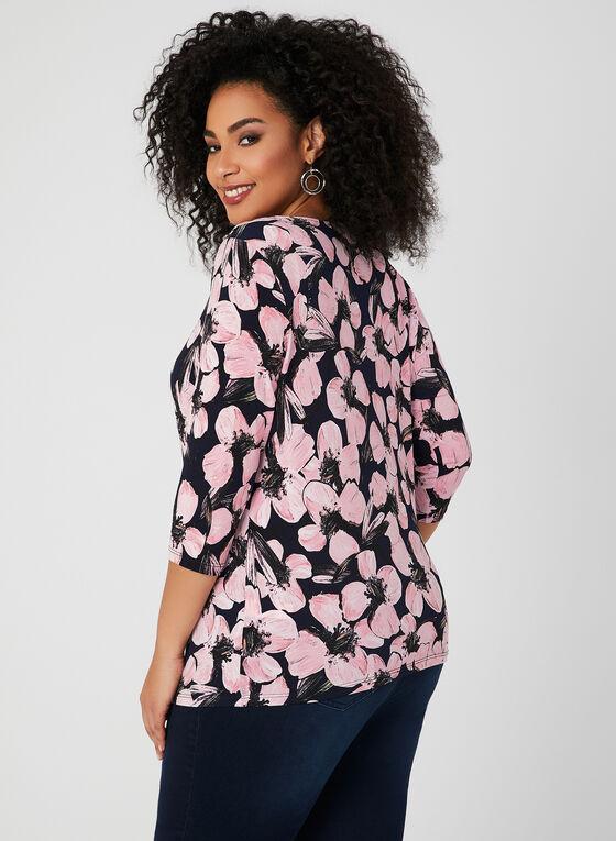 Haut en jersey à imprimé floral, Multi, hi-res