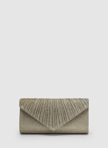 Glitter Envelope Clutch, Gold, hi-res,  flapover, spring 2019