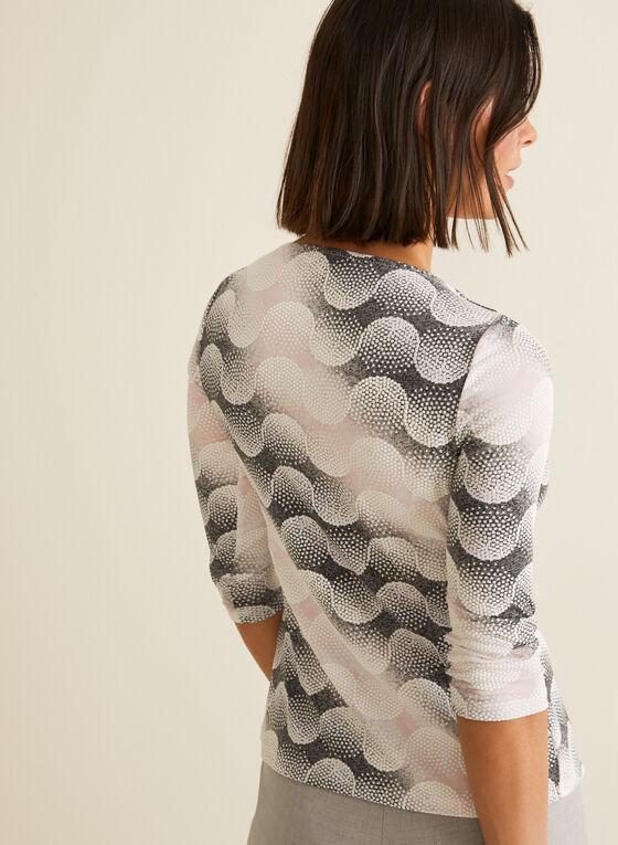 Haut texturé à motif géométrique, Multi