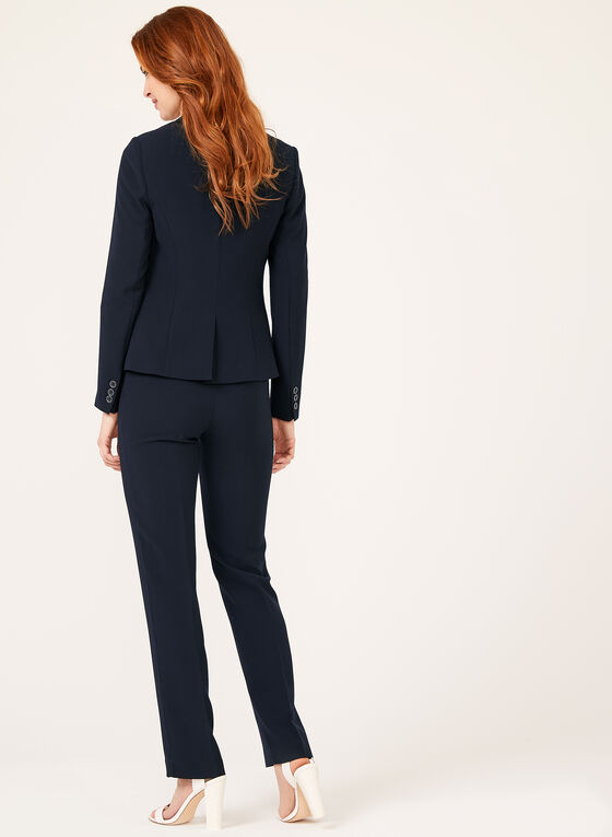 Notch Collar Blazer, Blue, hi-res
