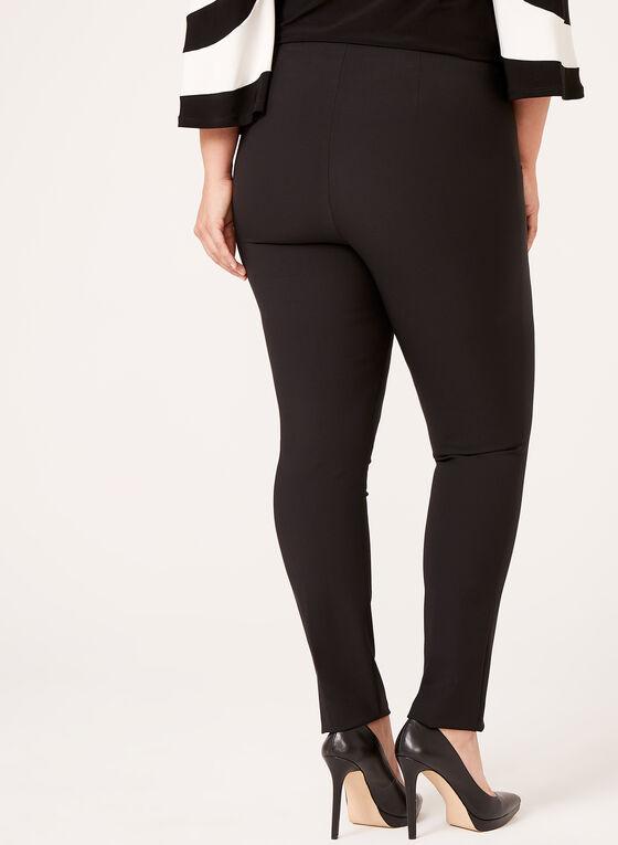 Pull On Straight Leg Pants, Black, hi-res