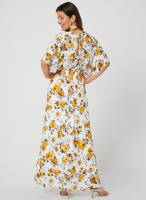 Robe maxi style kimono, Blanc, hi-res