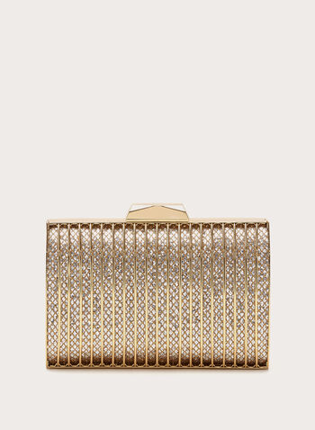 Grill Box Evening Clutch , Gold, hi-res