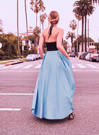 Open Back Satin Ball Gown, Blue, hi-res