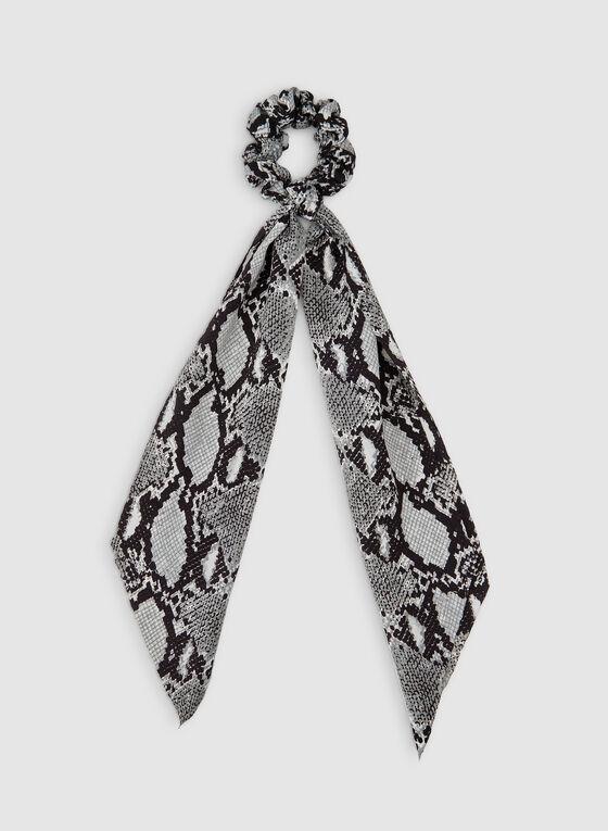 Chouchou motif serpent, Gris, hi-res