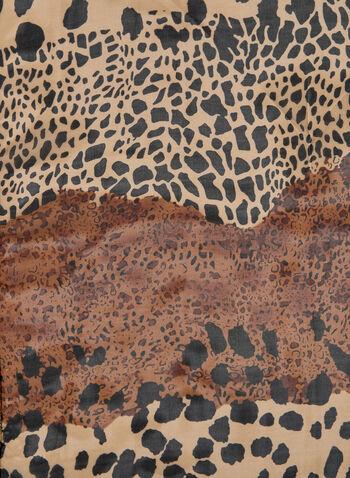Foulard à imprimé animal , Brun,  automne hiver 2019, imprimé animal