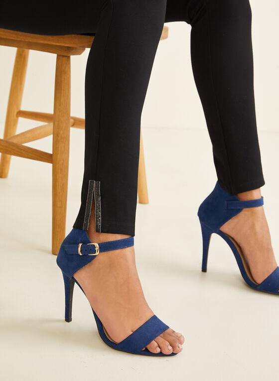 Crystal Detail Leggings, Black