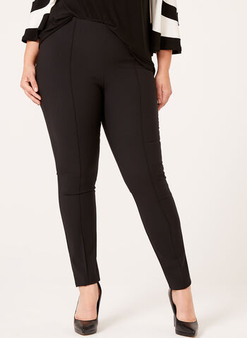 Pull On Straight Leg Pants, , hi-res