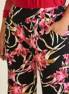 Joseph Ribkoff - Pantalon fleuri à jambe large, Noir