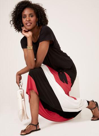 Colourblock Maxi Skirt, Black, hi-res
