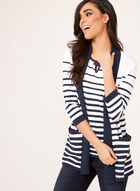 Shawl Collar Fine Knit Cardigan, Blue, hi-res