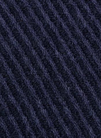Fringed Pashmina Scarf, Blue, hi-res