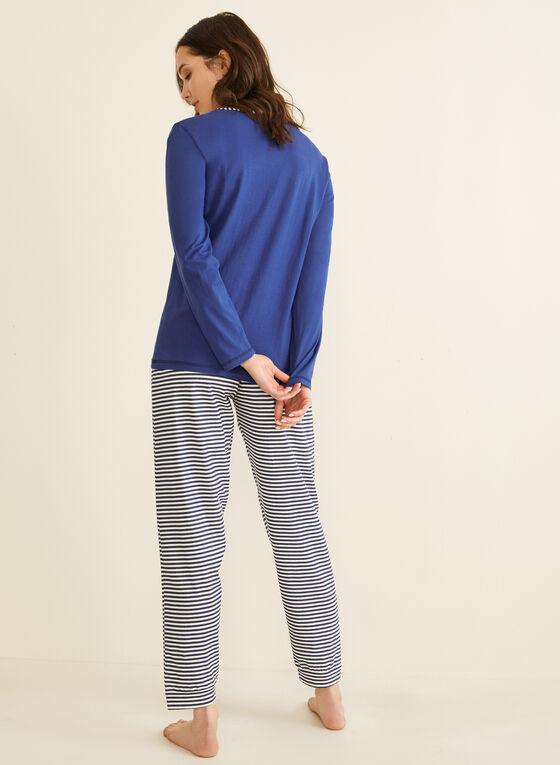 Karmilla Lingerie - Pyjama 2 pièces motif Paris, Violet