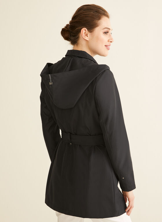 Novelti - Hooded Belt Coat, Black