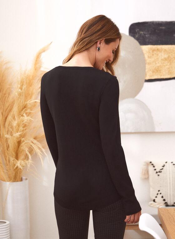 Chain Detail Sweater, Black