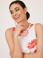 Jessica Howard - Floral Print Trapeze Dress, White, hi-res