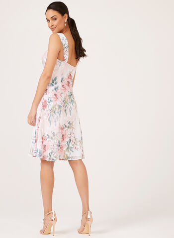 Floral Dress Pointelle Shrug Set, White, hi-res