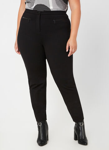 Signature Fit Straight Leg Pants, Black, hi-res,  Fall winter 2019, ponte di roma, leggings, straight leg pants