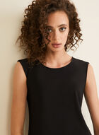 Basic Cap Sleeve Top, Black