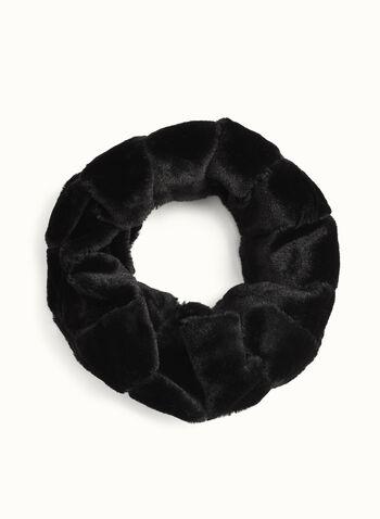 Faux Fur Tube Scarf , Black, hi-res